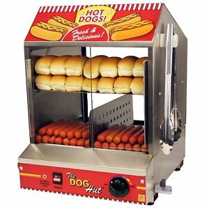 Hot Dog Steamer Commercial Tabletop Concession Machine 1200 Watts 120v