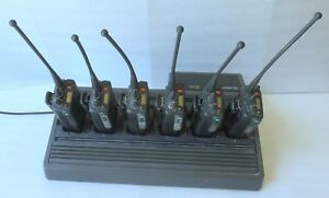 Motorola Mts2000 6 Radios Batteries W Charger Tested Works 800mhz u Split