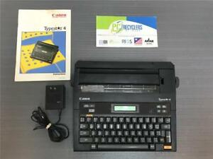 Canon Typestar 4 Portable Electric Typewriter W Power Supply Manual