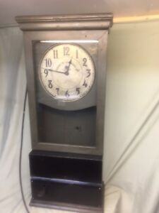 Antique Vintage Cleveland Time Clock Service Co Time Recorder Clock