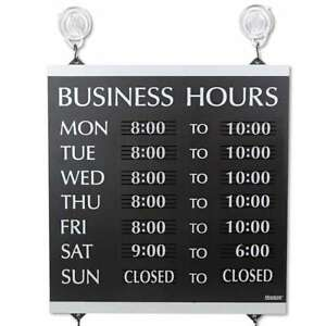 Headline Sign Century Series Business Hours Sign Heavy duty Pla 010736042472