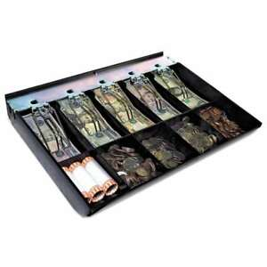 Steelmaster Cash Drawer Replacement Tray Black Abs Plastic 12 078541176805