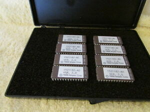Vintage Lot Of 8 New Ampex Integrated Circuit Processor Chip 1521182aa ah Nos
