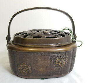 Antique Ming Style Chinese Bronze 20th Century Censer Hand Warmer Reign Mark
