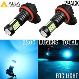 Alla Lighting 2200lm H11 36 Led Fog Light Driving Bulbs Lamps Ice Blue 8000k