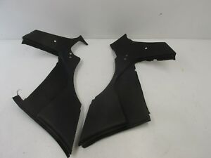 85 91 Porsche 944 Interior Rear Quarter Panels Speaker Cover Pair Black
