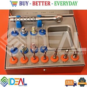 Surgical Drill Kit drills ratchet Wrench Dental Implant Instruments