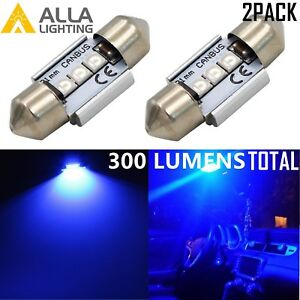 Alla Lighting De3175 Led Interior Dome Map Trunk License Plate Light Bulbs Blue