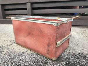 Vintage Genuine Industrial Factory Tote Bin Container Box Storage Box