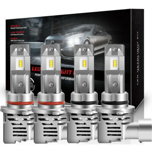 6x Combo Kit Bulbs 9005 9006 9145 H10 Led Headlight Fog Total 3240w 6000k White