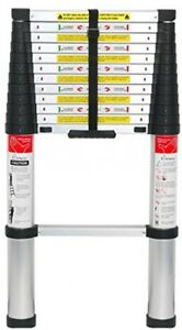 Wolfwise 12 5 Ft Telescoping Ladder Aluminum Telescopic Extension Tall Multi