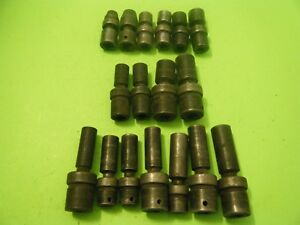 Snap On Tools 17 Piece Universal Swivel Impact Socket Lot