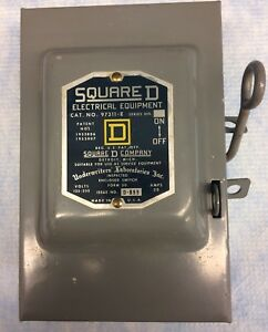 Square D single Throw safety Switch 1 Phase 30amp D 899 125 250v Electric Box