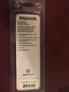 Radnor Model Fa 10 Torch Flashback Arrestors