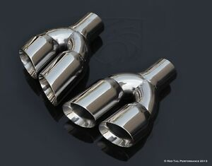 Staggered Exhaust Muffler Tips Dual 3 L R Quad Set 2 25 Id 9 5 Long