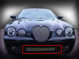 Jaguar S Type R 2003 2004 Lower Middle Bumper Mesh Grille Chrome Stainless Grill