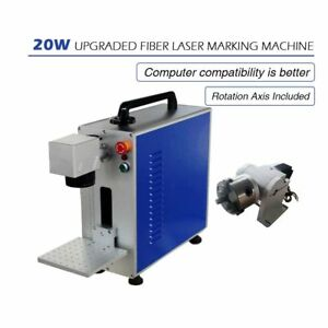 Portable Maxphotonic 20w Fiber Laser Marking engraving Machine With Ratory Axis
