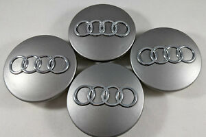 4 Pc Gunmetal Grey Wheel Center Replacement Hub Caps 69mm For Audi 4b0601170a