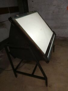 Gelb Tilting Light Table Drafting Architect Artist Tattoo 40 X 30 Vintage