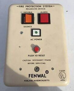 Vintage Fenwal Cat 30 191024 013 Fire Alarm Suppression Halon Release Device