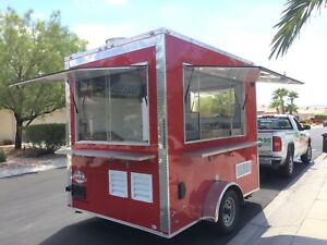New Mini Food Trailer Eye Catching coca cola Red Mobile Kitchen