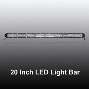 Slim Single Row 20inch Led Light Bar Spot Flood Combo 4wd Atv Suv Vs 19 21 22
