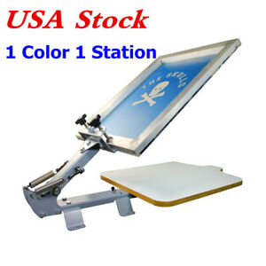 Usa Stock New 1 Color 1 Station T shirt Silk Screen Printing Machine