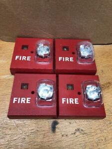 Lot Of Four 4 Siemens U mmt mcs Red Horn strobe 15 110cd Fire Alarms