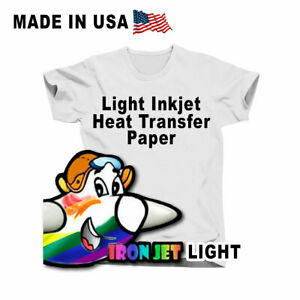 inkjet Heat Transfer Iron On Paper For Light Color Fabric 8 5 by1 1 100sheets