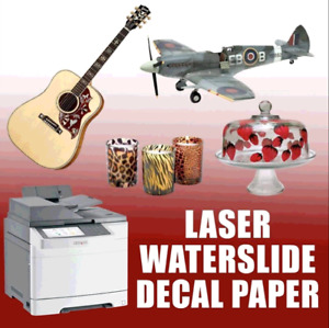Laser Waterslide Decal Paper white 8 5 X 11 100pk