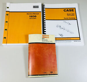Case 1830 Uni Loader Skid Steer Service Parts Operators Manual Factory Shop Set