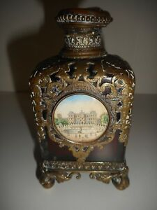 An Extraordinary Antique Ormolu Mounted Decorated French Perfume Bottle