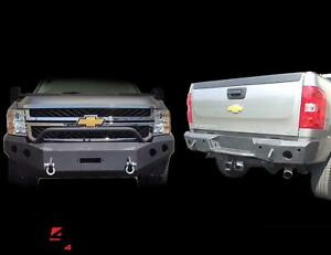 Dv8 Offroad Fbcs2 01 Rbcs2 01 Front Rear Bumper Combo For 11 14 Chevy 2500 3500