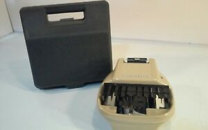 Vintage Creme Steno lectric Stenograph Reporter Shorthand With Case