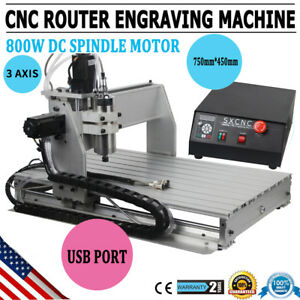 usa 3 Axis 6040 Usb 1 5kw Vfd Cnc Router Engraving Milling Drilling Machine