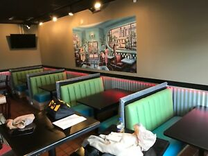 Used Restaurant diner Booths 4 Tables In Great Condition