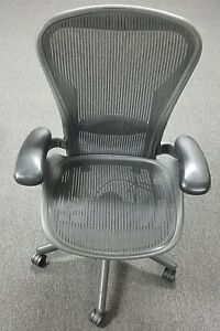Herman Miller Fully Loaded Size B Aeron Chair Used In Great Condition Genuine