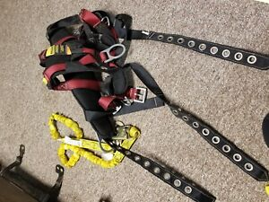 Guardian Fall Protection Safety Harness W Double Lanyard m l