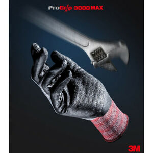 1 20pairs 3m Progrip 3000 Nitrile Safety Builders Construction Work Gloves Lot