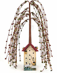 Willow Tree Saltbox House Bee Cottage 18 Inch Primitive Country Decor