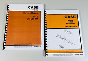 Case 1816 Uni Loader Skid Steer Service Manual Parts Catalog Repair Shop Ovhl