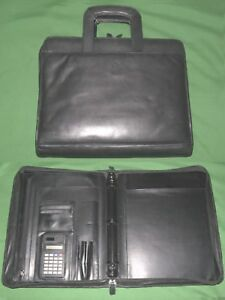 Monarch 1 0 3 Ring Black Leather Franklin Covey Planner Binder 8 5x11 6046