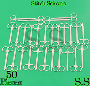50 Surgical Littauer Spencer Stitch Scissor 4 5 Suture Veterinary Instrument