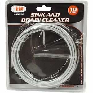 10 Ft Drain Snake Clog Remover Hair Removal Cleaning Tool Plumbing Pipe Sewer