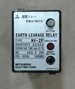 Mitsubishi Nv zp Earth Leakage Relay With Bases 025a11