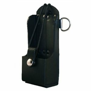 Boston Leather Radio Holder Plain Black 5473rc 1 New