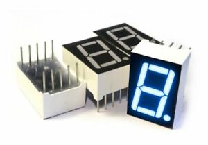 Is131 7 segment Led Display 1 Digit Blue Common Cathode Pack Of 4