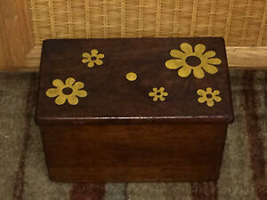 Antique Mahogany Wooden Stair Step Stool