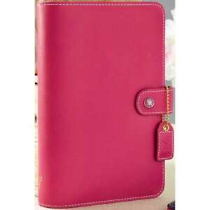 Color Crush Faux Leather Personal Planner Kit 5 25 x8 Fuchsia 608807000263