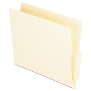 Pendaflex End Tab Folders Straight Cut Tab Two Ply Letter Manila 100 box H114d